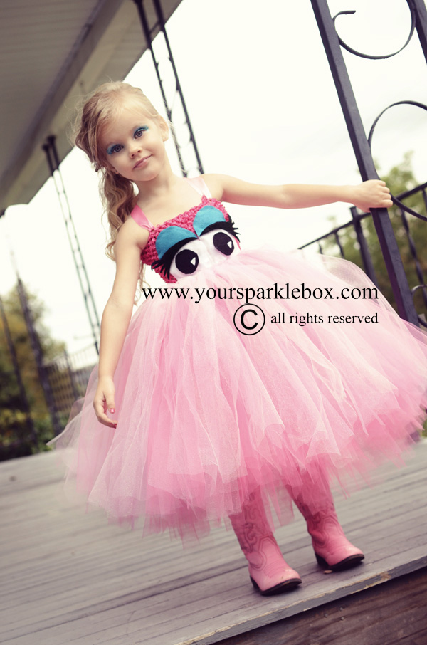 Pretty Pink Monster Tutu Dress by YourSparkleBox