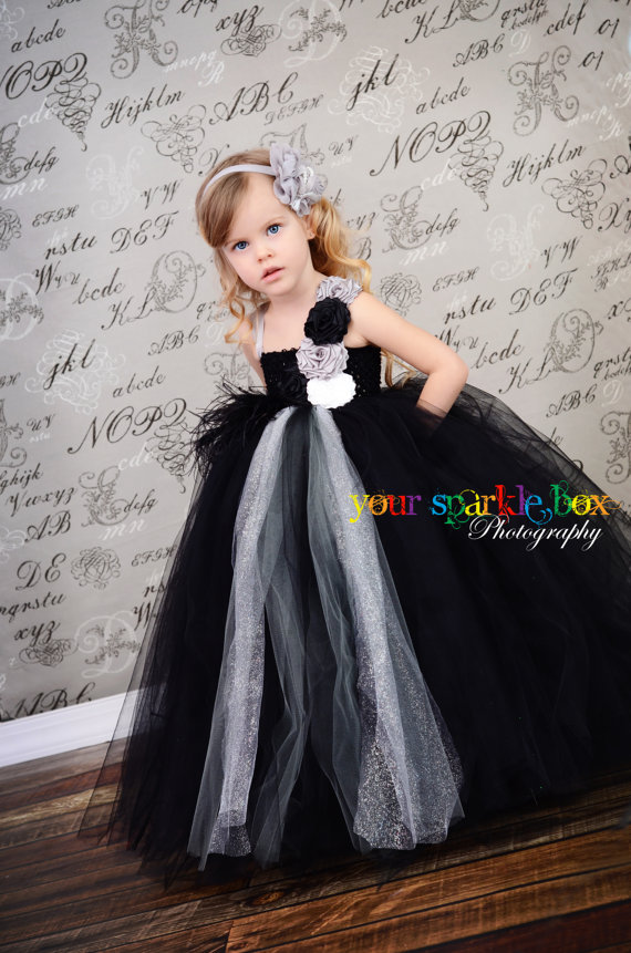 Black and Silver Tutu Dress