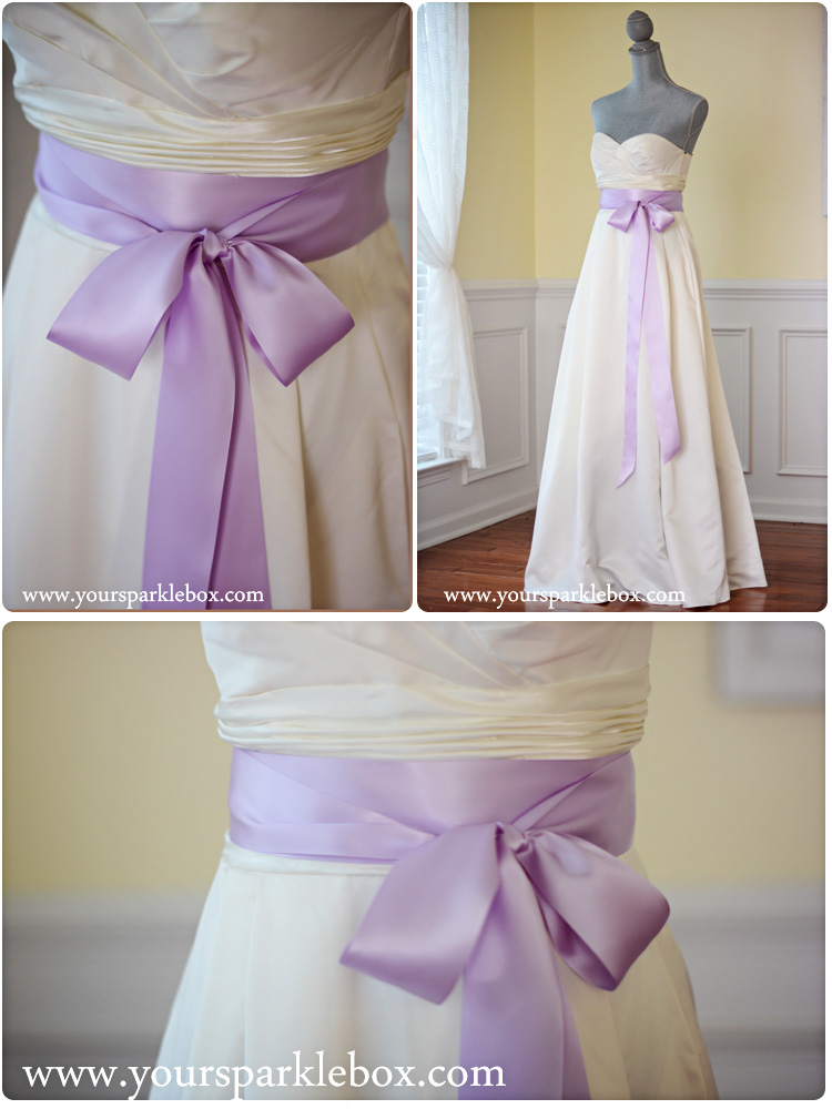 Lavender Bridal Sash by YourSparkleBox