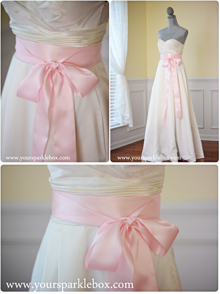 Palest Pink Bridal Sash by YourSparkleBox