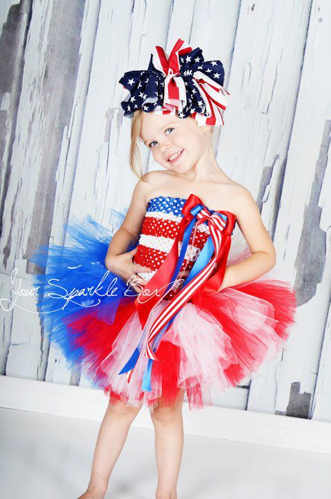 Red White Blue Tutu Set