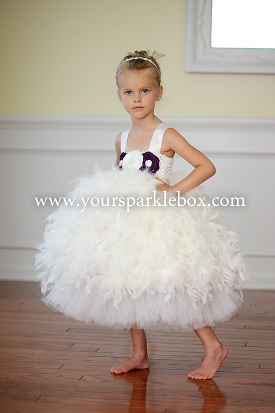 Feather Tutu Dress - RETIRED