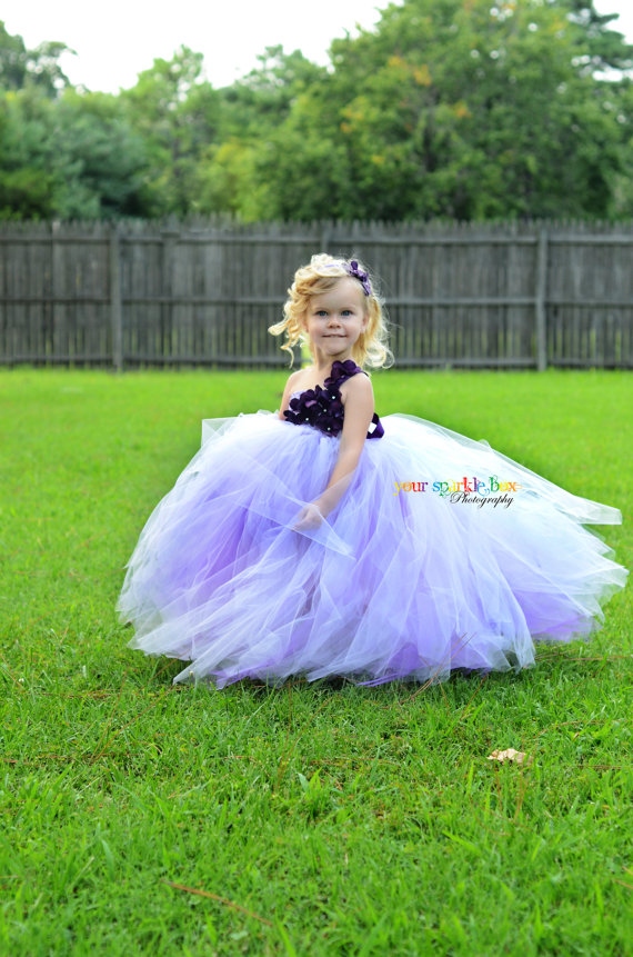 Purple Hydrangea Tutu Dress