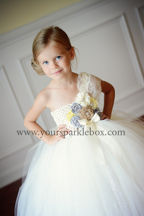 Silver and Yellow Vintage Tutu Dress