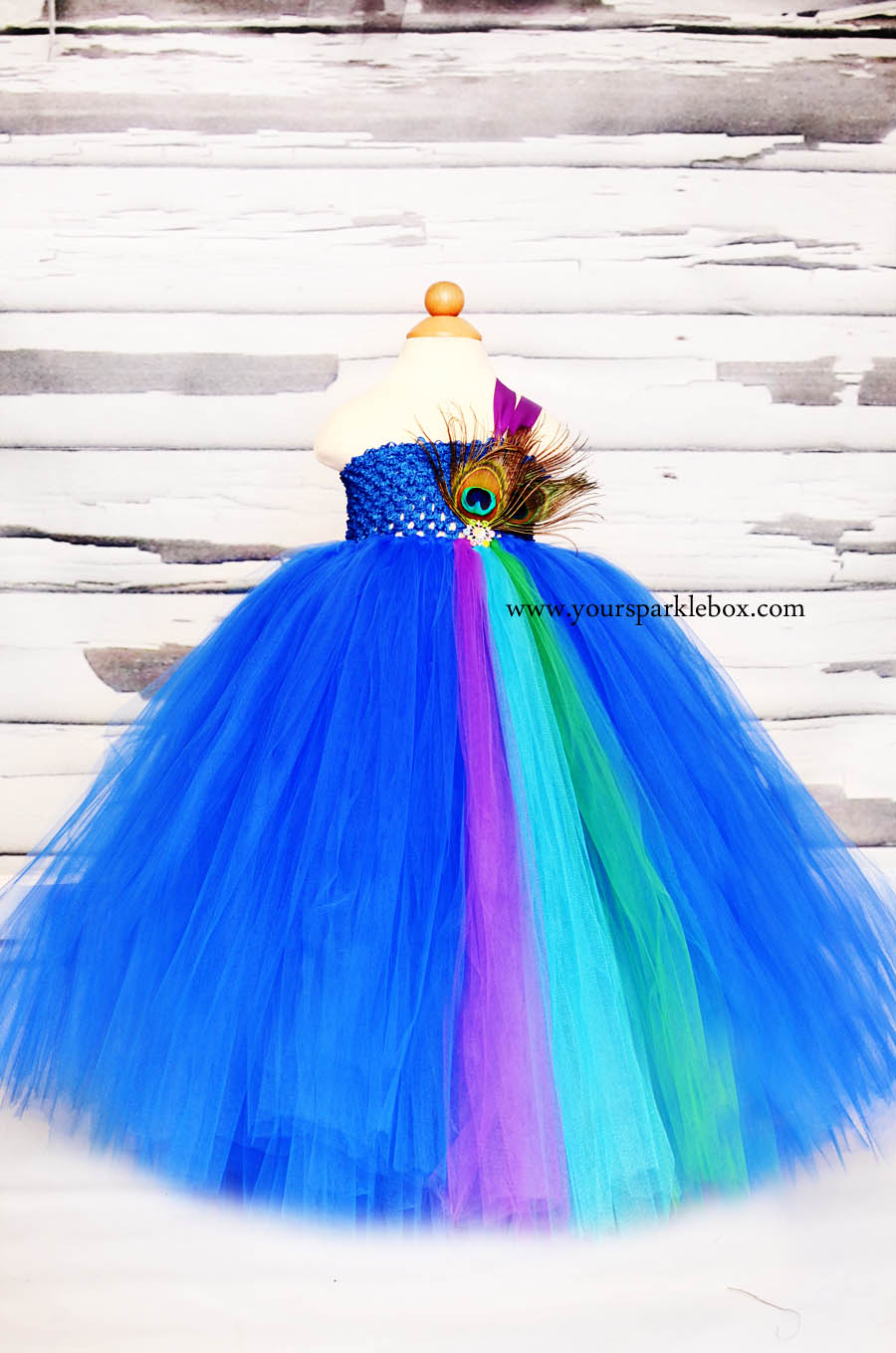 Royal Peacock Tutu Dress