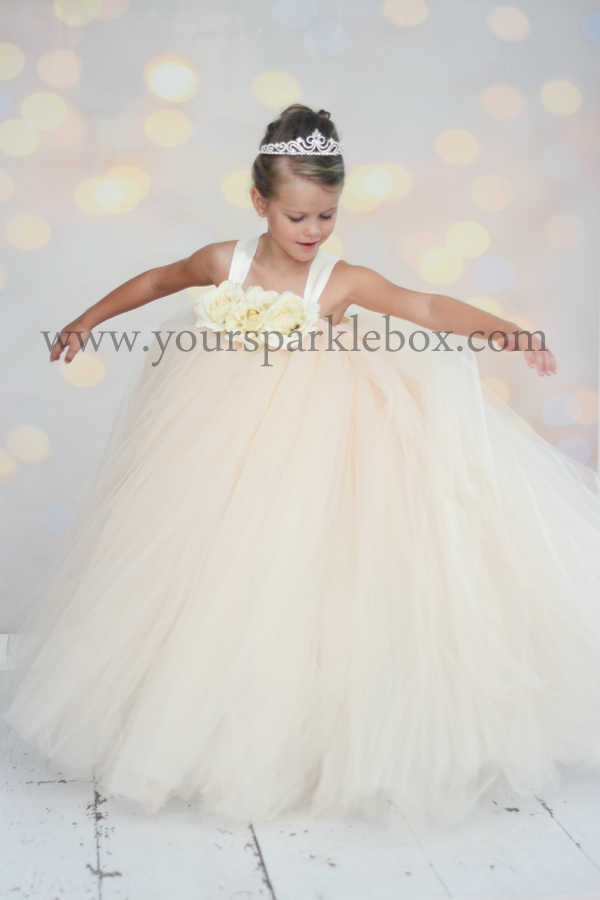 champagne tutu dress by YourSparkleBox